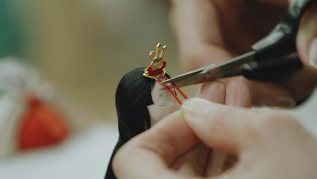 節句人形の伝統技術をインテリアアートへ