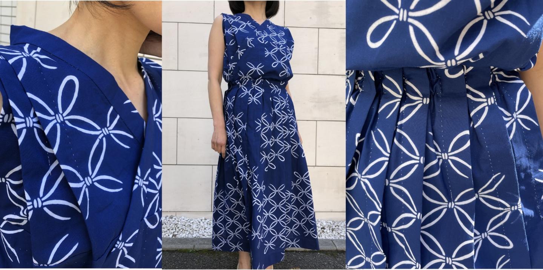 【竺仙】浴衣の新たなスタイル「ゆかたブラウス」と「運針プリーツスカート」を着こなして
